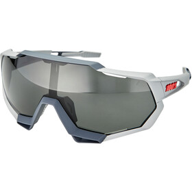 100% Speedtrap Okulary, soft tact stone grey/smoke